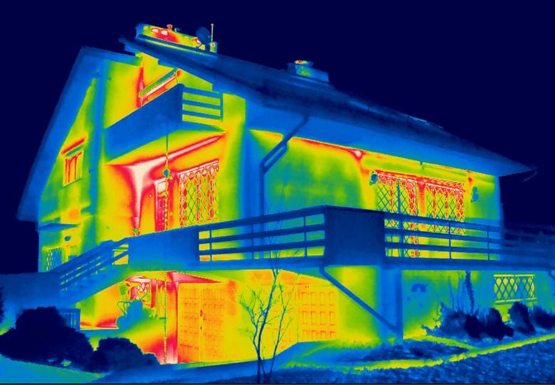 Termogram budynku - pomiary termowizyjne